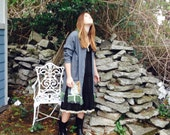 Wodland Jacket Upcycled Forest Fantasy Charcoal Gray and  Moss ~Sale was 48.00!Reserved for Lala