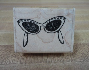Uptown Designs Shades Sunglasses Rubber Stamp