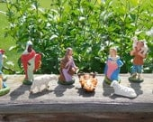 Vintage 10 Piece Nativity Set Creche Made In Italy Paper Mache