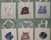Rat Tote Bags - Great for Rat Related Shopping!