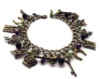 Malificent Vintage Gold Charm Bracelet