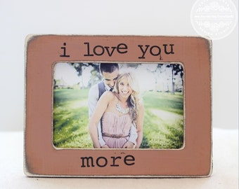 Wedding Gift Personalized Rustic Picture Frame Bridal Shower Engagement GIFT