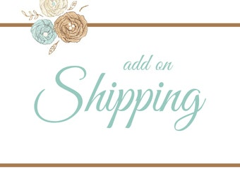 SHIPPING for Add On