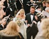 Ribbon Wand Wedding Programs  - Deposit