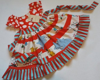 Dr Seuss Characters Dress Made to Order