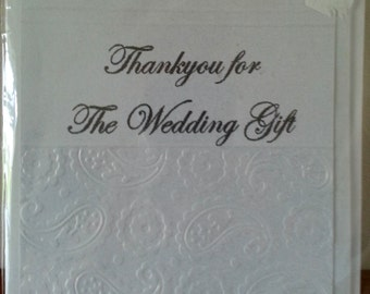 """Handmade 5""""x 5"""" Size  Thank You For Our Wedding Gift Card"""