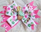 Pink and Green Mermaid Bow