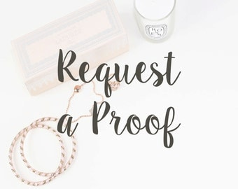 Request a Proof Before Ordering