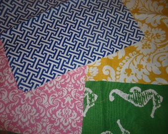 """18"""" X 17"""" squares of summer fabric"""