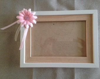 Pink Floral Wood Picture Frame