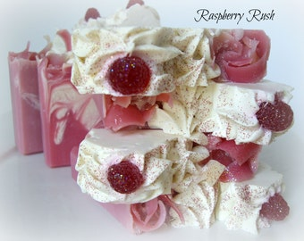 Raspberry Rush Homemade Soap/Cold Process Soap/Artisan Soap/All Natural Soap