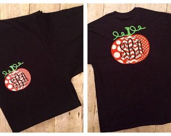Polka Dot and Chevron Pumpkin Shirt