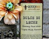 Dulce de Leche Creamy Face Wash - Triple Milk Gentle Cleanser - 8 Ounce Large