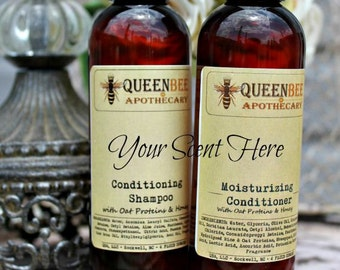 U CHOOSE SCENT Conditioning Shampoo & Moisturizing Conditioner Set - with Oat Proteins, Honeyquat 4 oz