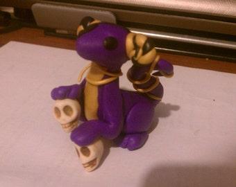 Polymer Pirate Dragon w/ Skulls