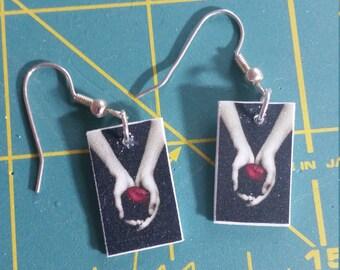 Twilight Book Cover Shrinky Dink Earrings