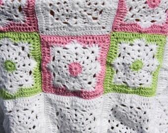 Crochet afghan baby blanket