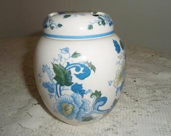 Blue and White Ginger Jar, Potpourri Holder or incense jar in Asian design