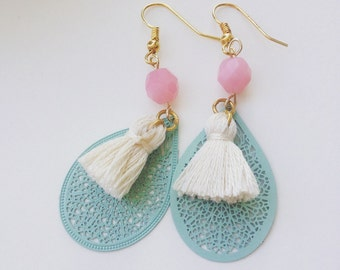 Mint Boho earrings