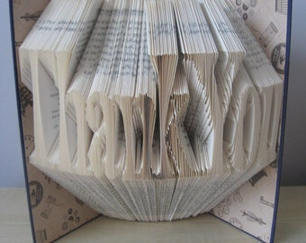 Hand Folded and Decorated 'Thank You' Bookfold Keepsake **Free P&P**