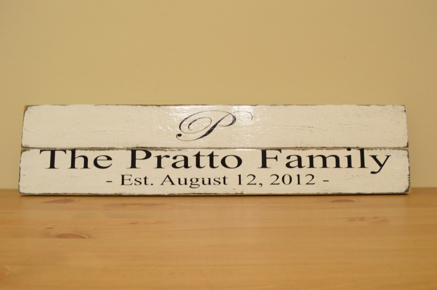 Wedding Gift Name Sign : Personalized Family Name Sign Wedding Gift Sign