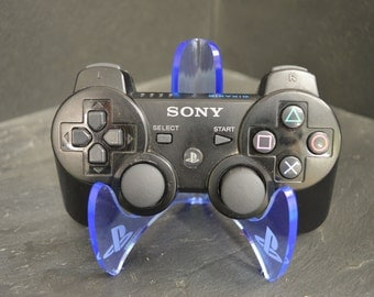 PLAYSTATION PS3/PS4 Controller Stand, Laser Cut & Engraved Acrylic.