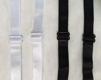 """1/2"""" elastic ajustable bra straps (4 pairs)"""