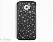 Samsung Galaxy S6 Edge Case, Samsung Galaxy S6 Case, Samsung Galaxy S5 Case, Black & White Stars (188)
