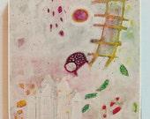 "abstract art, acrylic painting,modern wall art, beautiful colors Modern wall art  by M.Schöneberg ""My dream"" 12x12x 0,75"