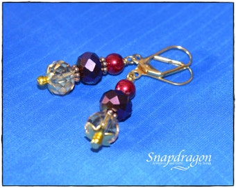 1001 Nights Collection decadent jewel coloured beaded earrings.
