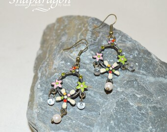 Upcycled vintage earrings