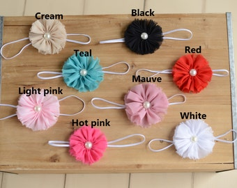 Baby Flower Headband, Flower headband, Baby toddler child girls headband, newborn headband, baby headband, girl headbands