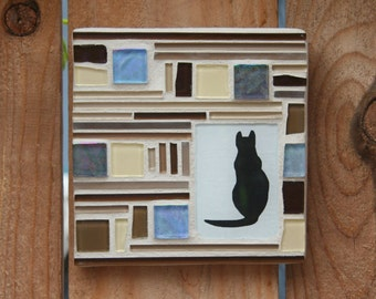 40% OFF:  Cat Silhouette Mosaic
