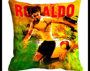 PAIR or MIX MATCH from listing - Ronaldo / soccer cushion cover - digital print