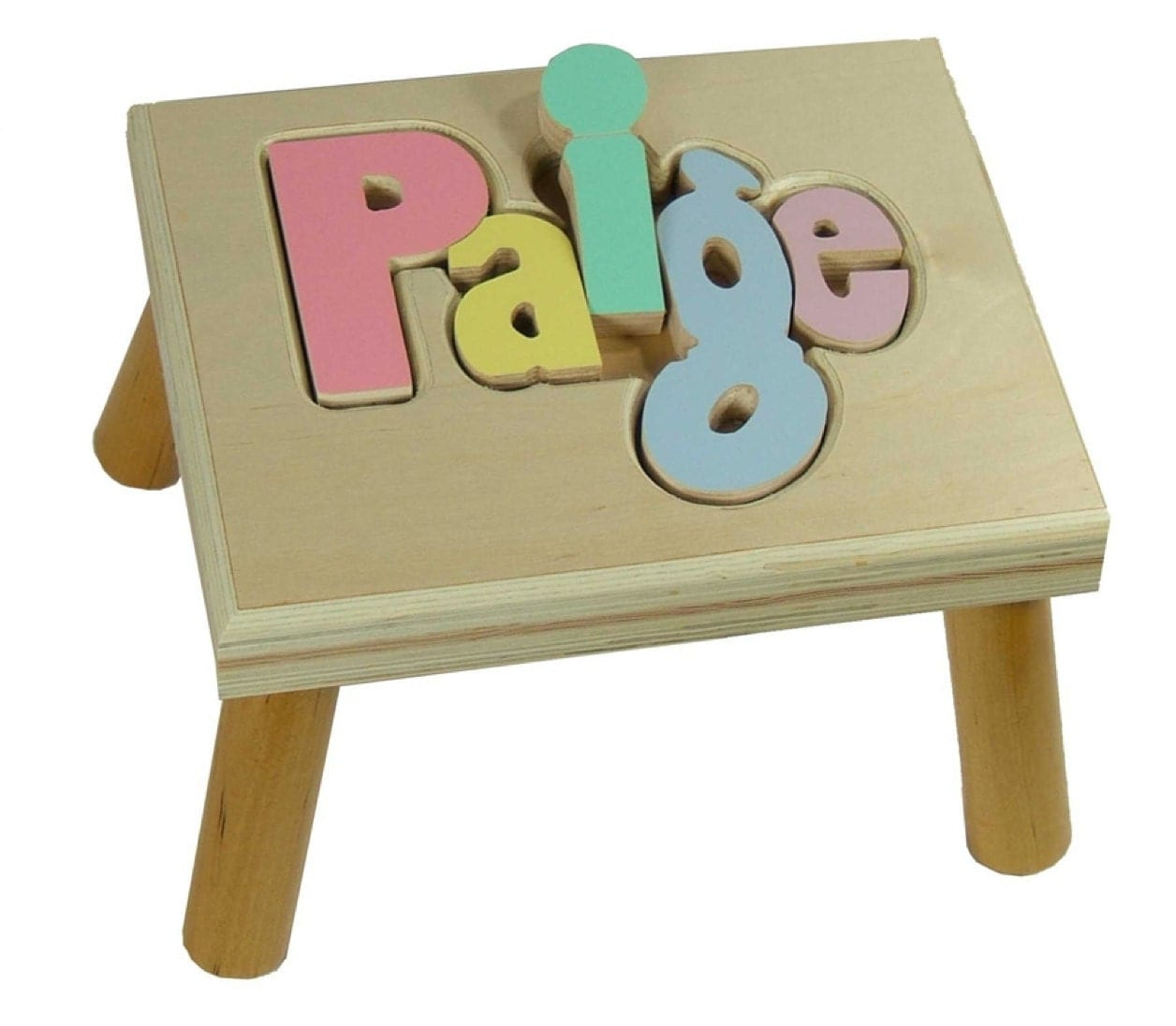 Personalized Puzzle Step Stool Free Shipping
