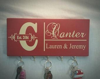 Key Holder, Personalized Key Holder, Keys Holder, Key Rack, Wall Key Holder, Christmas Gifts, Hanging Key Sign, Keys Display, Gifts Ideas