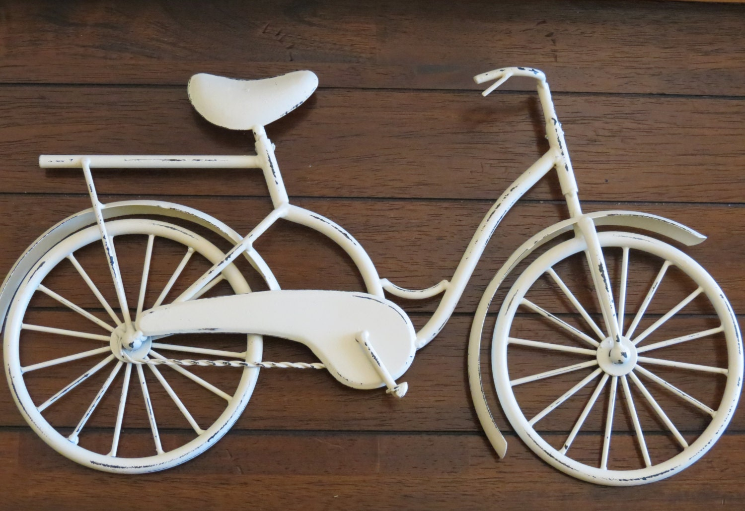 Metal Wall Decor Bicycle : Bike wall decor creamy white or pick color bicycle metal