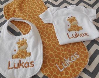 Custom Giraffe Baby Set