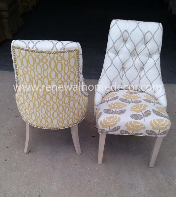 custom order upholstered dining chairs adriana 39 s tufted dining