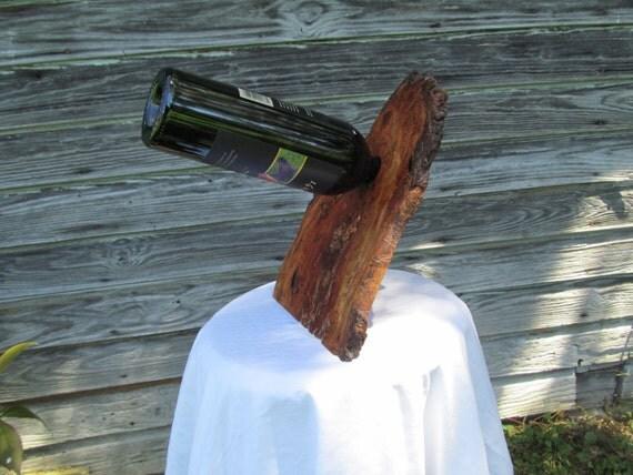 Live Edge Highly Figured Cherry Burl Wine Balancer