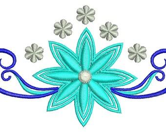 snow flower  - Machine Embroidery Design