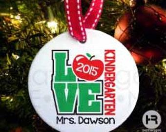 Personalized Teacher Christmas Ornament - Teacher Ornament - Personalized Teacher Gift