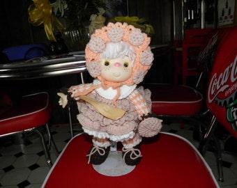 VINTAGE CROCHET 1980s Lollipop Lane Oatmeal Cookie Doll