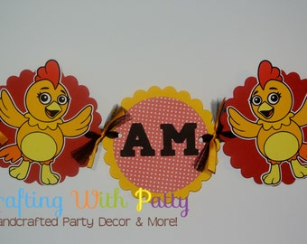 Chica the chicken high chair banner