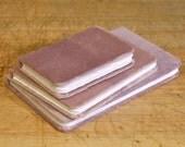 Organic Lavender Indian Velvet Cover, Drawing Vellum, Handmade Journal/Sketchbook/Notebook
