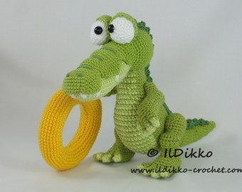 Amigurumi Crochet Pattern - Conrad the Crocodile