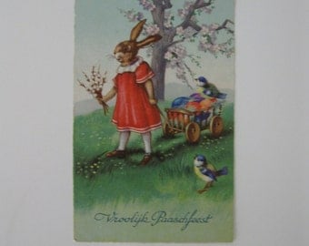 Easter or Passover Vintage Post Card - Margaret Boriss, Unsigned - Greetings Series #1941 - Netherlands - Used - 1910s