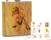 Pinup girls flask, Pin up girl flask, Unique gift flask