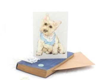 Dog card, westie card, West Highland Terrier greeting card
