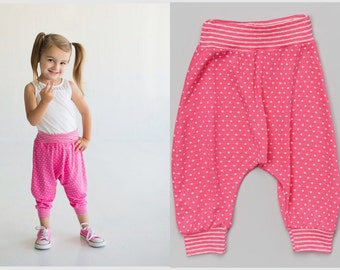 Dreaming Kids Hot Pink Dotted Harem Pants